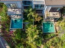 Aerial of luxurious community with an oceanview for sale in Costa Rica