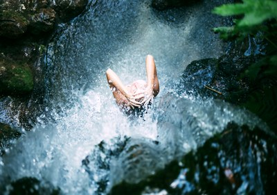 Waterfall in the Rainforest in Costa Rica's Premier Development in the Central Pacific with Luxury Houses for sale
