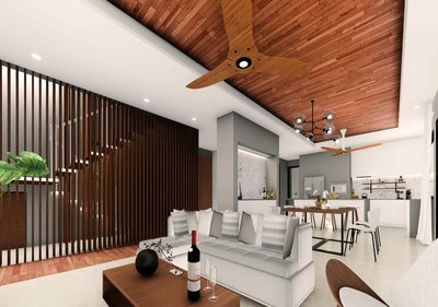 Customized kitchen and living room in Costa Rica's Premier Development in the Central Pacific with Luxury Houses for sale