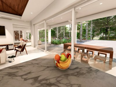 Rainforest Reserve Residences- Eco-friendly premier kitchen and living room in premier development for sale in Costa Rica