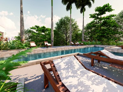 Pool view in Costa Rica's Eco-friendly Premier Development in the Central Pacific Rainforest with Luxury Houses for sale