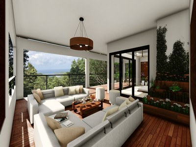 Terrace oceanview in the Rainforest in Costa Rica's Eco-Friendly Premier Development in the Central Pacific with Luxury Houses for sale