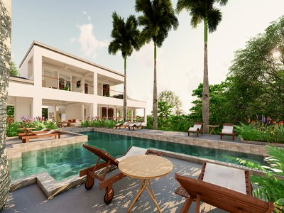 House pool view of Costa Rica's Premier Development in the Rainforest with Luxury Eco-friendly Houses for sale