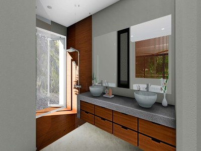 Modern eco-friendly bath in Costa Rica's Premier Rainforest Development in the Central Pacific with Luxury Houses for sale