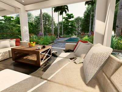 Outside Seating Area of Costa Rica's Premier Development in the Central Pacific with Luxury Houses for sale