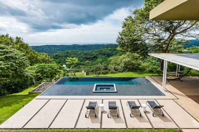 Exterior pool of Luxury Community with Modern Ocean View Luxury Residences for Sale Costa Rica