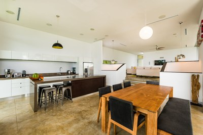 Kitchen and living area -Modern Ocean View Luxury Residences for Sale Costa Rica