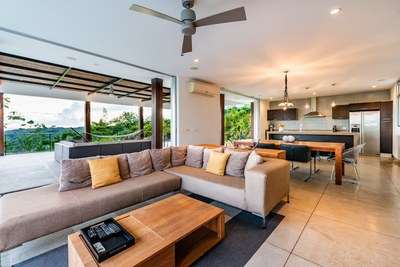 Illuminated Living Area - Modern Ocean View Luxury Residences for Sale Costa Rica