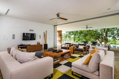 Living room house near the beach -Modern Ocean View Luxury Residences for Sale Costa Rica