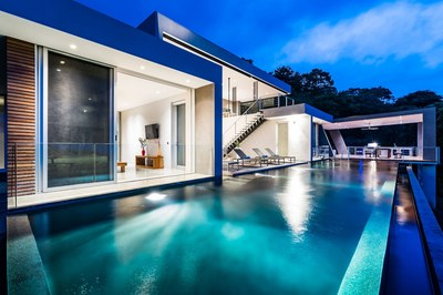Night Pool View-Modern Ocean View Luxury Residences for Sale Costa Rica
