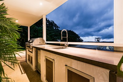 Summer Kitchen and Outdoor BBQ Area - Modern Ocean View Luxury Residences for Sale Costa Rica