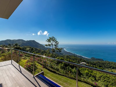Balcony to Oceanview in Hilltop House for Sale in Puntarenas, Costa Rica