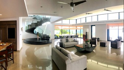 Delux OceanView from Livingroom in Hilltop Luxury House for Sale in Puntarenas, Costa Rica