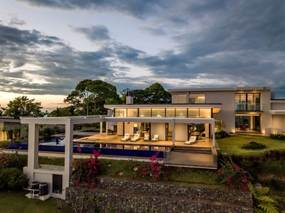 Engulging Evening from Oceanview Hilltop House for Sale in Puntarenas, Costa Rica