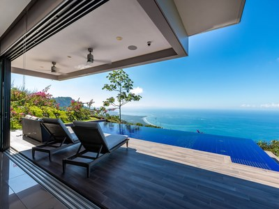 infinity Lounge at Hilltop House for Sale in Puntarenas, Costa Rica