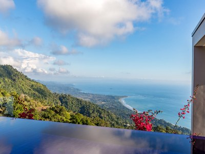 Infinity Ocean from Hilltop House for Sale in Puntarenas, Costa Rica