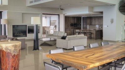 Living Room in Luxurious Home for Sale in Mountain top with OceanView in Puntarenas, Costa Rica