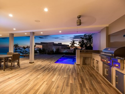 Afterglow from Luxurious Deck at Hilltop House for Sale in Puntarenas, Costa Rica