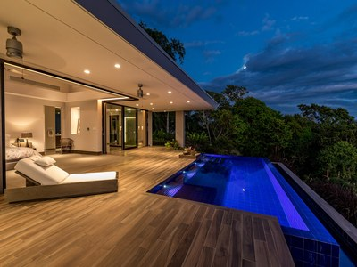 Moonlighting from Pool Deck Hilltop House for Sale in Puntarenas, Costa Rica