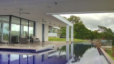 Pool in Elegant, Hilltop, Oceanview House for Sale in Puntarenas, Costa Rica