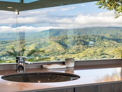 Sink to Panoramic View from Hilltop House for Sale in Puntarenas, Costa Rica