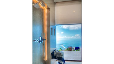 Splendorous OceanView from Shower in Luxurious Hilltop House for Sale in Puntarenas, Costa Rica
