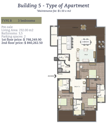 Floorplan 1 of     Oceanfront and Ocean View Drone view of Luxury Condos for Sale on the Central Pacific of Costa Rica