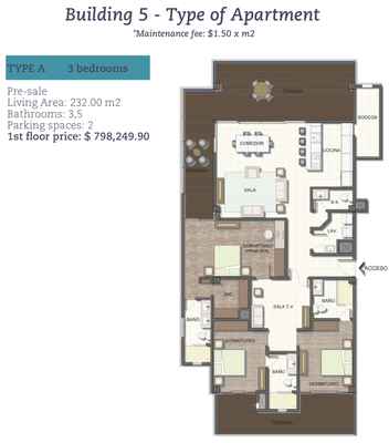 Floor Plan 2 of     Oceanfront and Ocean View Drone view of Luxury Condos for Sale on the Central Pacific of Costa Rica