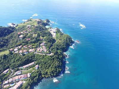 BirdsEye View of Oceanfront and Ocean View Luxury Condos for Sale on the Central Pacific of Costa Rica