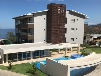 Exclusive condo tower in front of the ocean for sale in Costa Rica