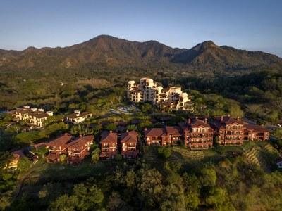 Aerial view of Costa Rica's Premier Beach Development with Luxury Condominium for sale