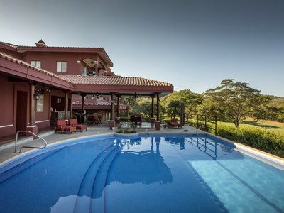 Exterior pool with mountain view in Costa Rica's Premier Beach Development with Luxury Condominium for sale
