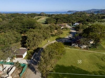 Aerial lot view in Costa Rica's Premier Beach Development with Luxury Condominium for sale
