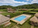 Private social area in exclusive community with houses for sale in Costa Rica