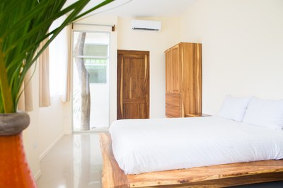 master bedroom of Guana 2 - Contemporary Architecture cutom wood furnishings