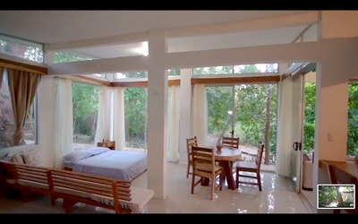 Casa Guana 1 Living Interior of Pofitable Costa Rica Residential Riverside Residences for Sale