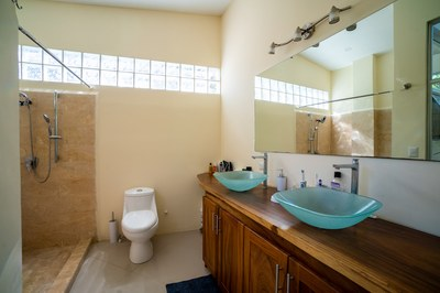 Casa Guana II Master Bath of Rivierna Residences Costa Rica Profitable Rental Beach Community for Sale.jpg