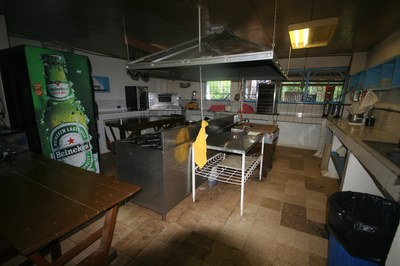 Kitchen of Amberes Casino Restaurant Bar and Disco for Sale in Costa Rica