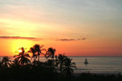 Spectacular Sunsets from Oceanfront Hotel for Sale