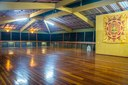 The upper event room has a wooden floor is 200 m2