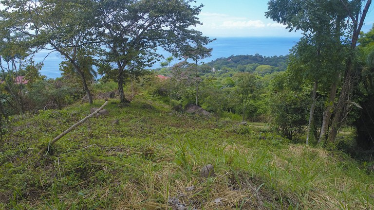 Large Home Site in Playa Dominical with Ocean Sunset Views: Mountain Home Construction Site For Sale in Dominical