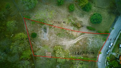 Lot Size, View From Above - Oceanview Lot in Gated Community Close To Beach