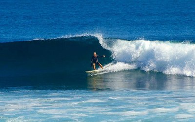 Surfing Right Break