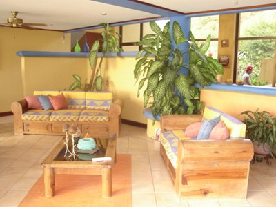 Interior Seating Area ofHouse for Rent in Playa Prieta, Guanacaste