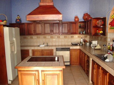 Fully Equipped Kitchen of House for Rent in Playa Prieta, Guanacaste