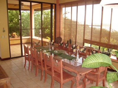 Dining Room of House for Rent in Playa Prieta, Guanacaste