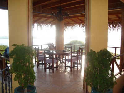 Covered Patio of House for Rent in Playa Prieta, Guanacaste