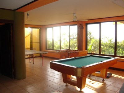 Game Room in House for Rent in Playa Prieta, Guanacaste