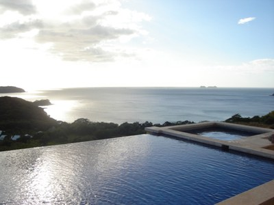 Ocean View from Infinity Pool of House for Rent in Playa Prieta, Guanacaste