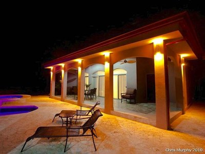 Covered Terrace at Night